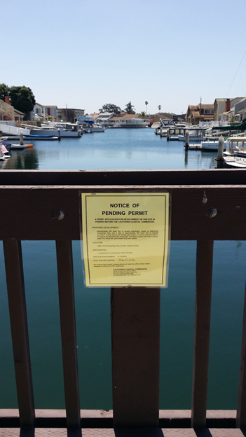 Permits have been posted for seawall project...