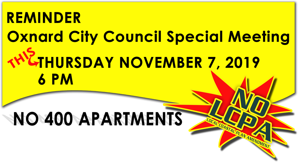 November 7 2019 at 6 PM Special City Council Meeting – Fisherman's Wharf