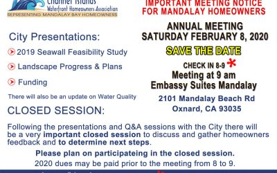SAVE THE DATE: SATURDAY FEBRUARY 8, 2020 ANNUAL MEETING