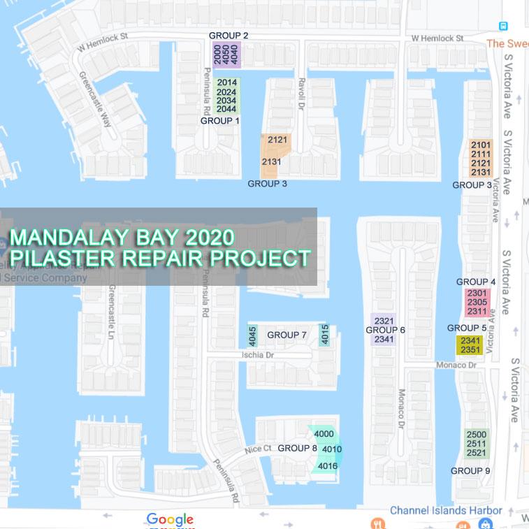Mandalay 2020 Pilaster Project