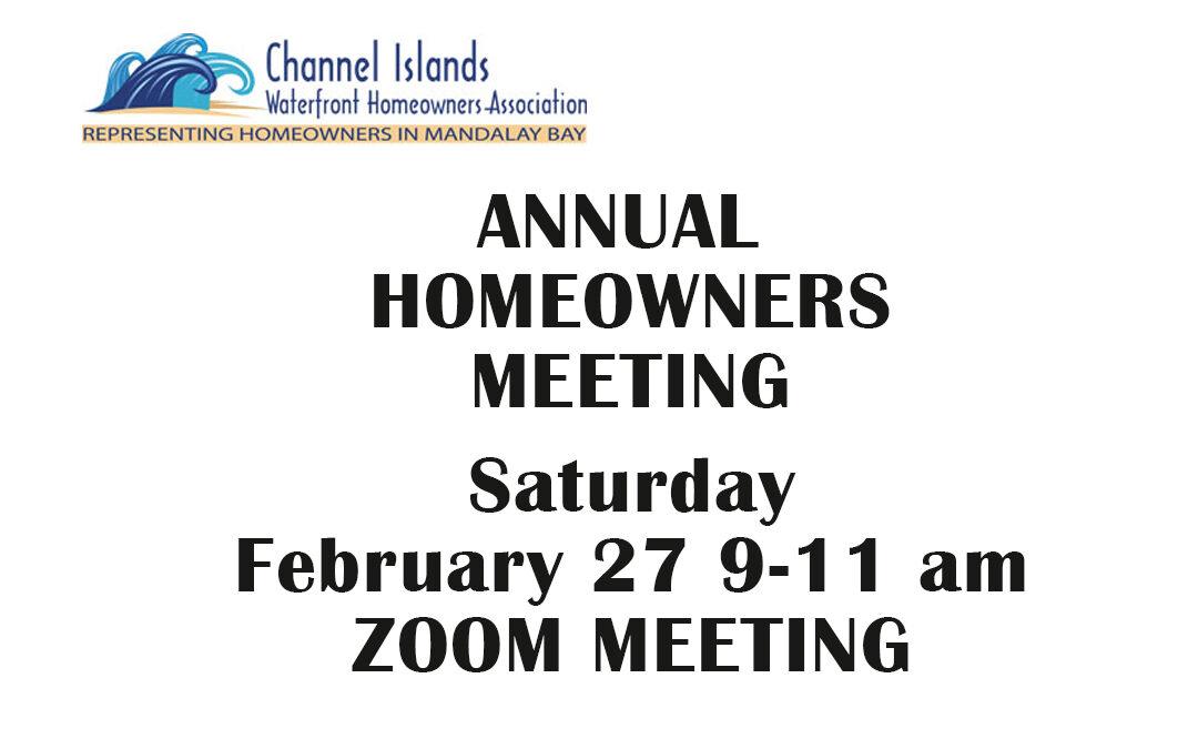 January 2021 Updates – Annual Meeting Invite